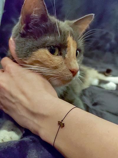 Armband mit Katze